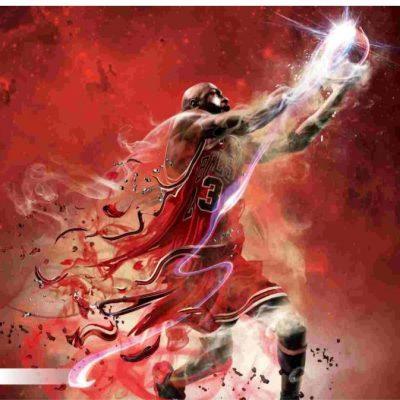 پوستر سه بعدی ورزشی طرح بسکتبال