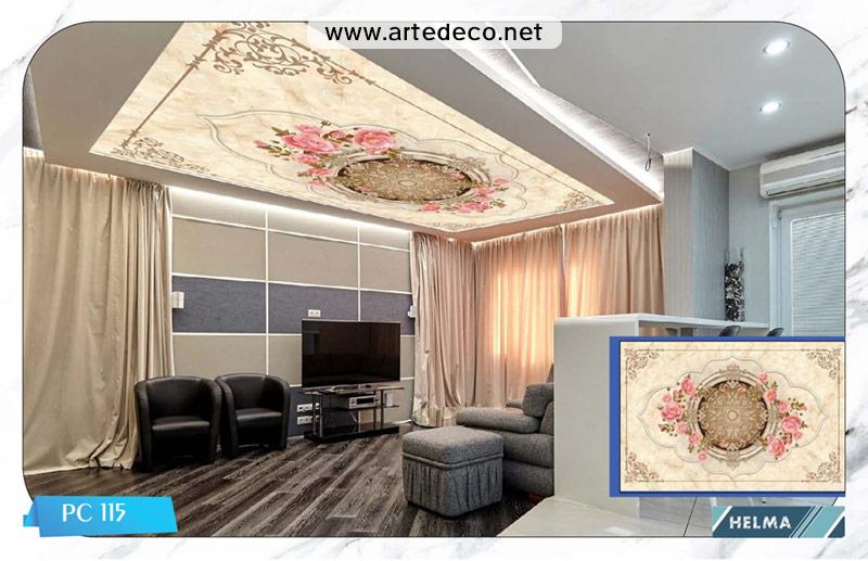 پوستر سقفی : سقف پذیرایی، آشپزخانه و اتاق خواب