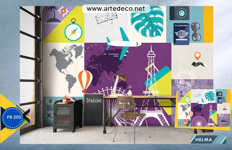 پوستر دیواری اماکن دیدنی برای آژانس مسافرتی