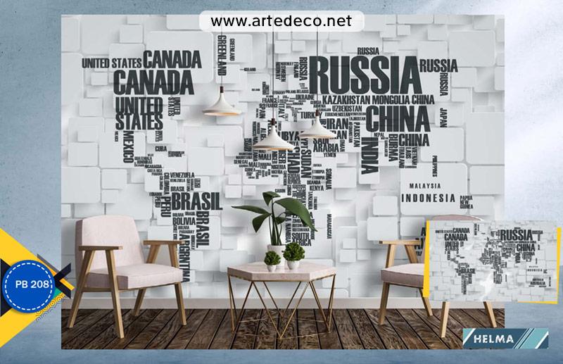 پوستر دیواری نقشه برای آژانس مسافرتی