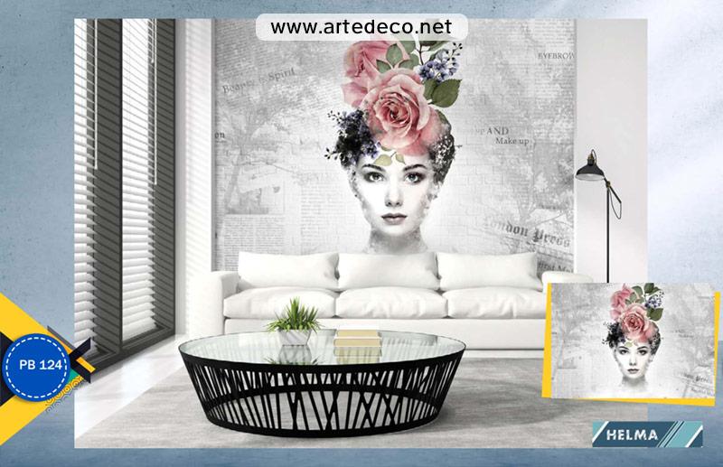 پوستر دیواری سالن زیبایی و مزون طرح چهره