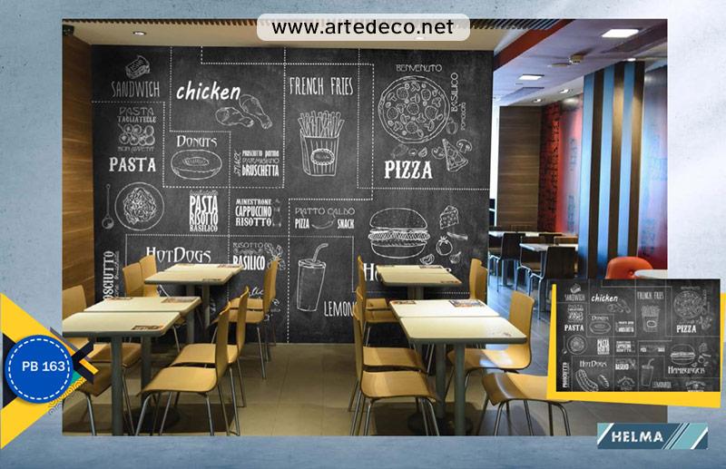 پوستر دیواری فست فود و رستوران