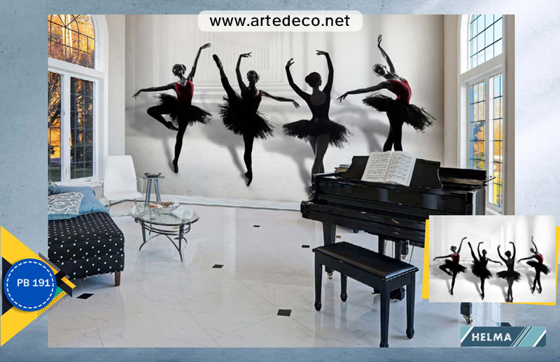 پوستر دیواری سالن رقص و یوگا